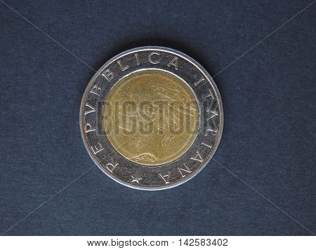 500 Italian Lira (ITL) coin currency of Italy (IT) - reverse side