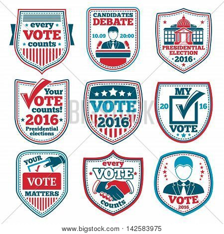 Vote labels and badges for elections, debates etc.