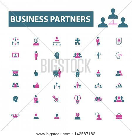 business partners icons