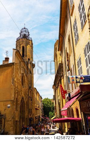 Old Town Of Aix En Provence, France