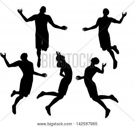 Soccer Player Silhouette In Black