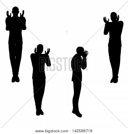 Man Silhouette In Angry Pose