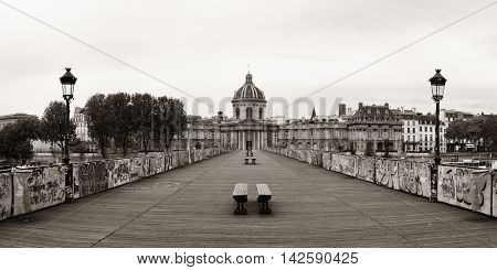 Pont des Arts over River Seine in Paris.