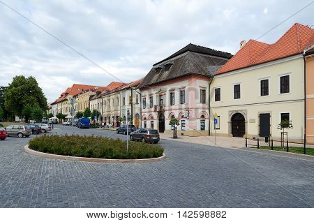 LEVOCA SLOVAKIA - AUGUST 18 2015: Old buildings in Levoca Old Town Slovakia.