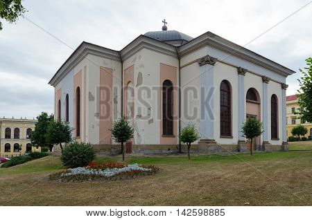 LEVOCA SLOVAKIA - AUGUST 18 2015: The Evangelical Church in Levoca Slovakia.