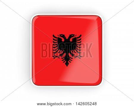 Flag Of Albania, Square Icon