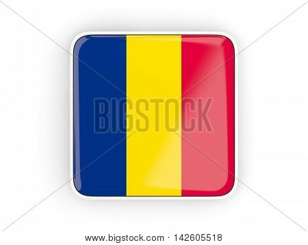 Flag Of Chad, Square Icon