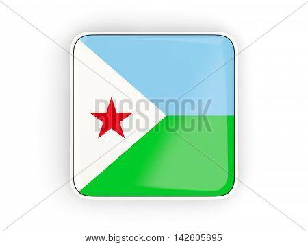 Flag Of Djibouti, Square Icon