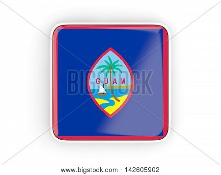 Flag Of Guam, Square Icon