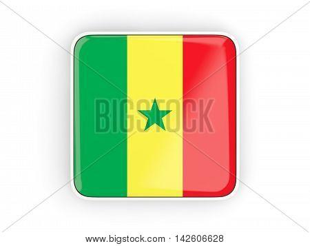 Flag Of Senegal, Square Icon