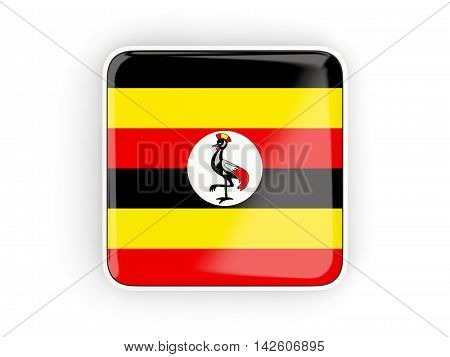 Flag Of Uganda, Square Icon