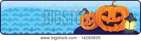 Halloween banner with a jack-o-lantern