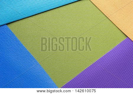 colorful of yoga mat texture and background