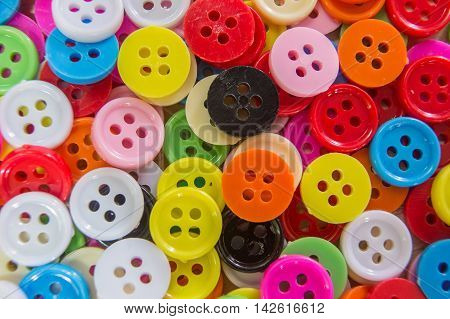 The studs color buttons plastic  for background
