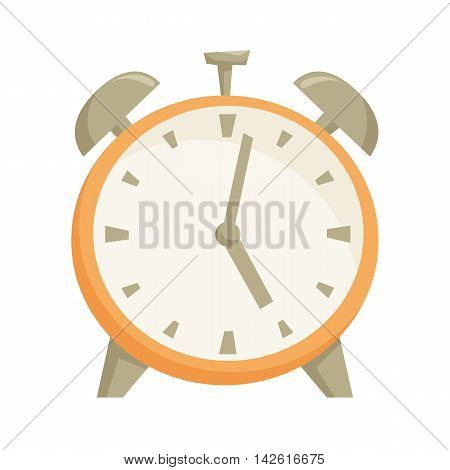 Alarm closk. Interior alarm closk isolated on wihte background. Cartoon alarm closk icon. Interior decor elements. Decoration for shelves, bed table, cabinet