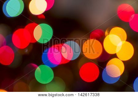 Christmas De focused colored lights Background Pattern