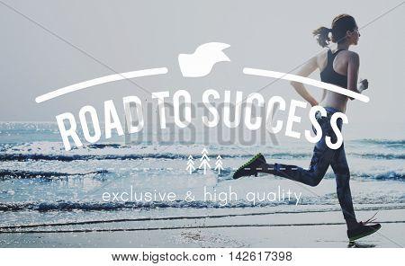 Road Success Achievement Aspiration Future Goals Concept
