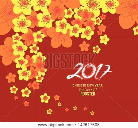 chinese new year 2017 template background design