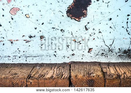Grunge Decay Wood Plank And Rusty Metal Wall,texture Background