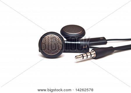 Pair Of Black Mobile Headphones