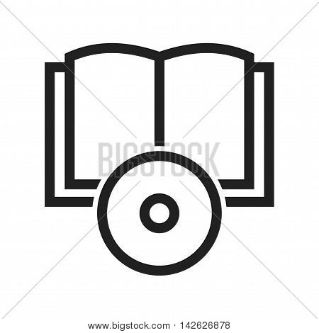 CD, dvd, books icon vector image. Can also be used for E Learning. Suitable for mobile apps, web apps and print media.