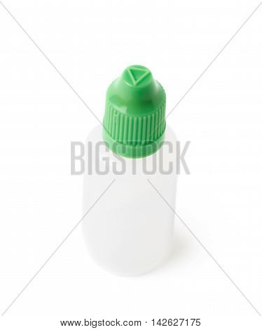 Plasic 30 ml bottle isolated over the white background
