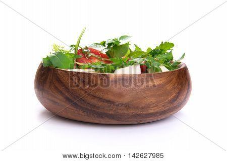 Fresh Vegetable Salad With Arugula And Feta