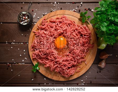 Raw Minced Meat With Egg
