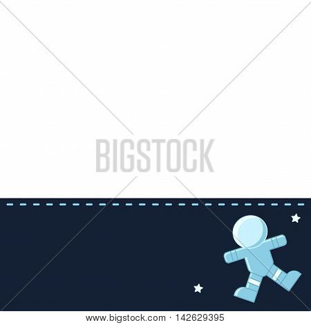Concept banner with Space theme with flat astronomic objects and symbols of Planets, Spaceman for invitations and advertisement. Trendy Design Vector Illustrations.