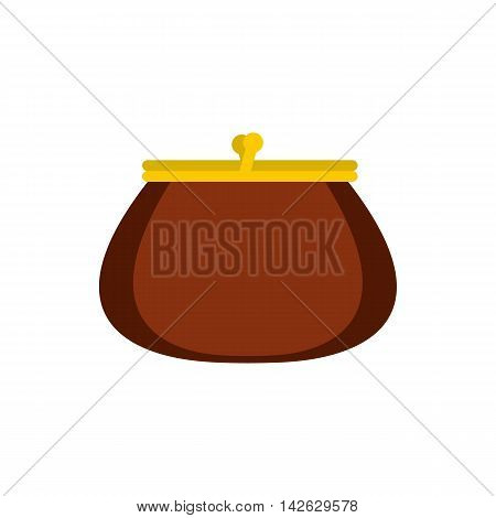 Purse icon in flat style isolated on white background. Purchase symbol
