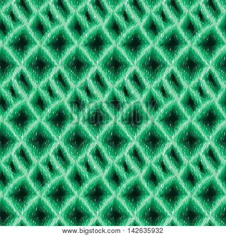 Ikat Boho Tie Dye Pattern Shibori Hippie Fabric Green