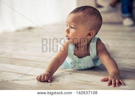 Afro American Baby Girl
