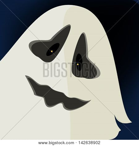 Halloween ghost on a black background, ghost, mystic
