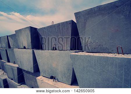 warehouse in the open air building blocks