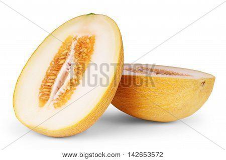 cantaloupe melon isolated on white background cantaloupe, slice,