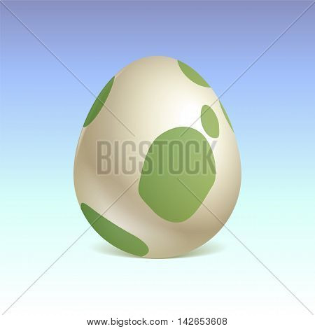 Birth of a dinosaur. egg. Vector graphics.