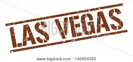 Las Vegas stamp. brown grunge square isolated sign