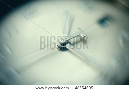time concept of clock with moving hour hand
