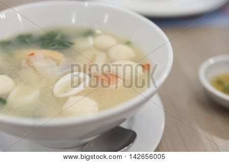 Spicy Sour Seafood Soup - Thai Food