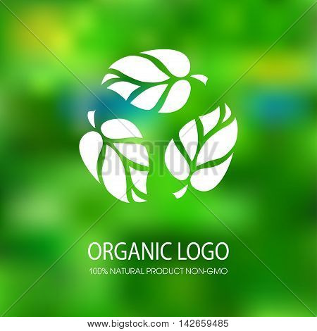 logo organic products without preservatives and GMOs