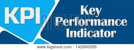 KPI - Key performance indicator text written over blue background.