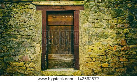 Stone Wall And Door