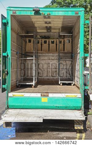 Florist Lorry Truck With Back Loading Ramp