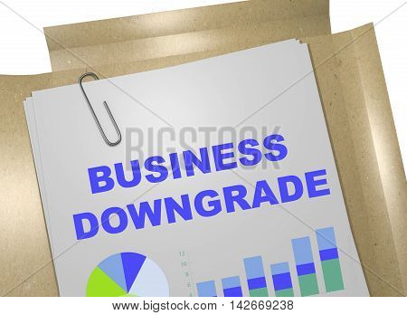 Business Downgrade Concept