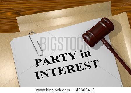 Party In Interest - Legal Concept