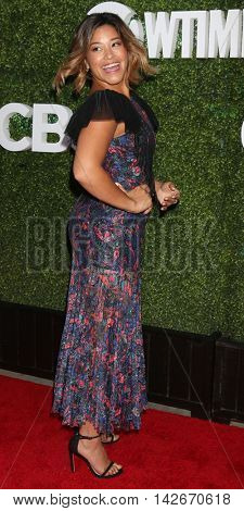 LOS ANGELES - AUG 10:  Gina Rodriguez at the CBS, CW, Showtime Summer 2016 TCA Party at the Pacific Design Center on August 10, 2016 in West Hollywood, CA
