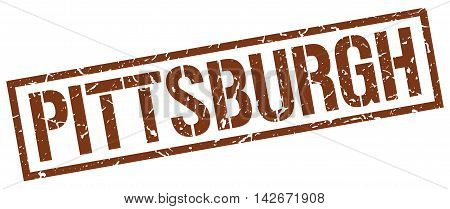 Pittsburgh stamp. brown grunge square isolated sign