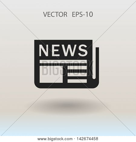 Flat  icon of news