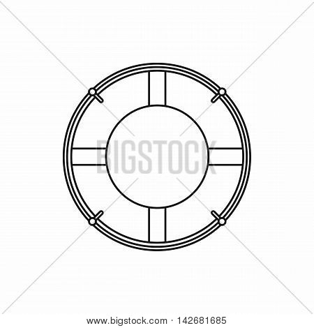 Lifeline icon in outline style isolated on white background. Help in rescue symbol vector illustration