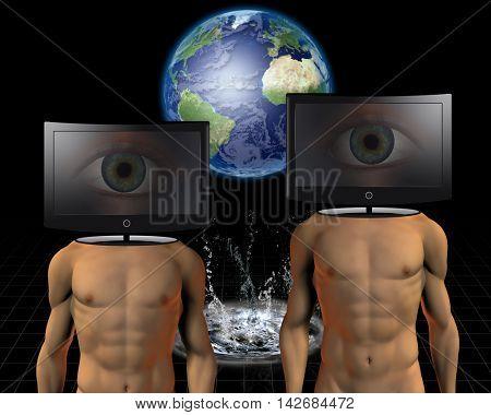 World media talk 3D Rendered